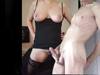 Jizz for big-titted wifey in dark-hued tights