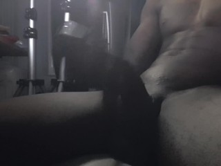 Lengthy cock wanked before sofa. Super-naughty AS plow