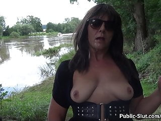 More showing and lovemaking in public with super hot wifey Marion