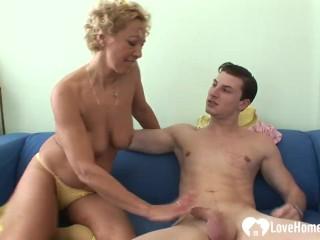 Blondie cougar loves a stud's firm prick