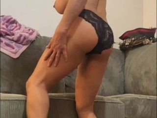'Anna Maria Mature Latina taunting in underpants topless'