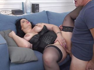 Incredible Patrizia Pleasures A Cock With Her Tits And Pussy