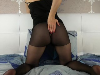 Wondrous  cougar Rips stockings and boinks Herself - CatherineRain