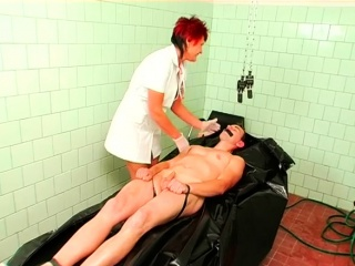 Red-hot lesbians tear up with panty on fucktoys in some bondage & discipline fetish