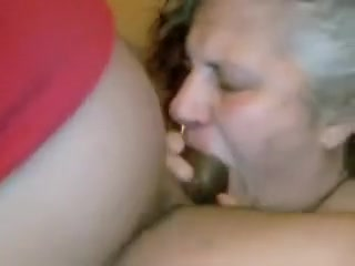 Married Aged Neighbour Gags on Darksome rod