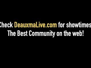 Mischievous mummies Deauxma & Nina Hartley penetrate & fellate dark-hued manhood!