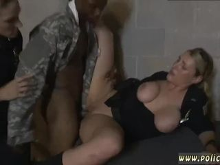 Fledgling swinger wifey threeway first-ever time faux Soldier Gets Used as a
