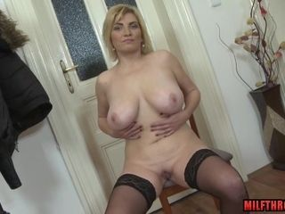 Breasty mom demonstrates Me Her vagina