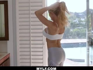 MYLF - Yoga cougar predominates Neighbor guy