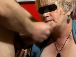 granny with floppy boobies sucks and receives facialized