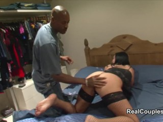 Unquestionable interracial prepare oneself filmed in the lead added to via coition