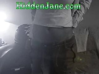 Janine pleasing herself on the bed (hidden cam)