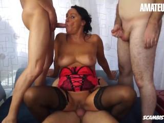 'ScambistiMaturi - super-naughty Italian Mature raunchy buttfuck nailing With 3 Kinky folks - AMATEUREURO'
