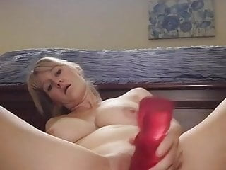 Wifey frigs her bum while railing her huge plaything