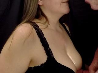 'SEXY wifey GIVES SMOKIN oral pleasure - jism ON huge TITS'