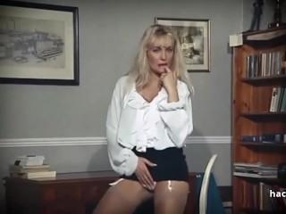 Gillian Anderson faux Striptease