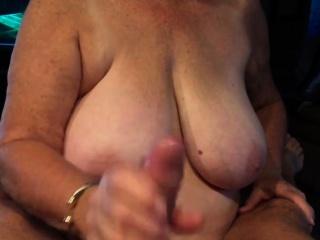 Grandma tall blowjob POV