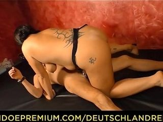 DEUTSCHLAND advantage - obese tattooed German lass enjoys stabbing making love