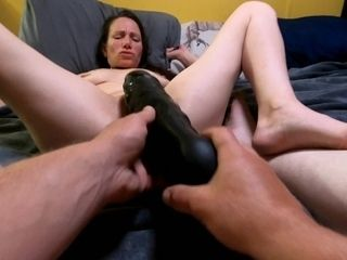 'MILF gets spread and fisted. Super hot mom's lost POV'