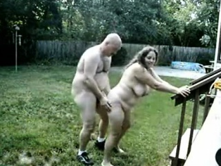 Fat Backdoor Sex Out Within The Lawn