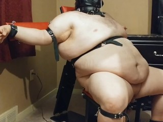 'FemDom wifey whipping and Whips subjugated hubby While in restrain bondage and Sensor Deprevation'