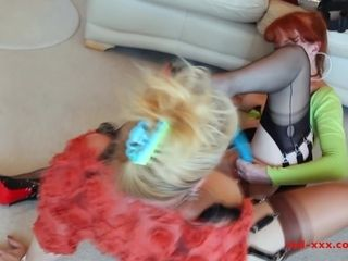 Sex-crazed MILFS enjoyment from each time in rotation nigh strap-ons plus toys - RedXXX