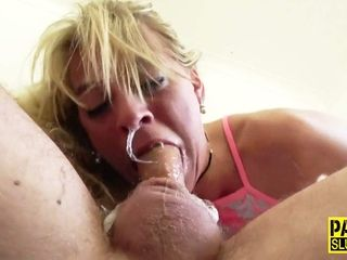 Inexperienced wifey drool inhale