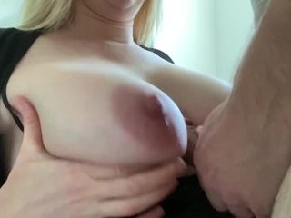 'My large knockers Get rubbed, Titty-Fucked, and covered with Cum'