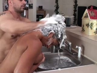 Blowing, drilling and Hair drilling (Hair Washing Fetish)