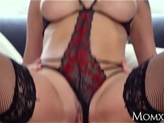 Mummy hotwife hefty melons stepmummy Elen Million entices hefty Vito