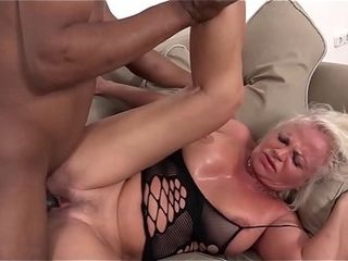 Milky mature has numerous climaxes during fuckfest with dark-hued fellow