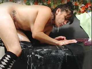 Breathtaking of age rubbing away confess cum