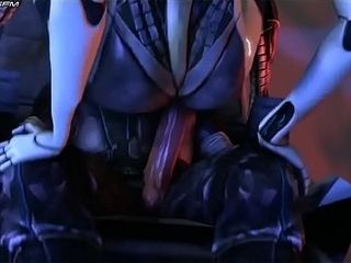 Mass Effect Edi rails great three dimensional anime porn fuck-a-thon games