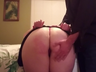 Slapping cougar wifey confined by cuffs