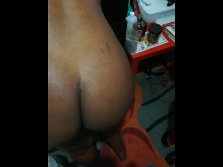 Brief slapping sesh with black wifey