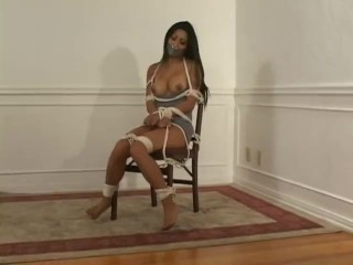 Nicole oring chairtied and gauze gag