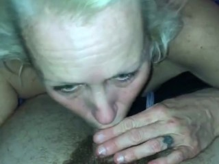 'Blonde mature cougar gives the hottest b-day deep throat ever 2hot'
