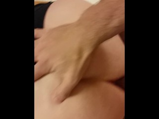 Bound to tabouret and jizzing with him when he internal ejaculation her with hefty fat manhood