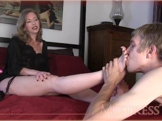 'MistressT - cougar son sole worship hand job Mom'