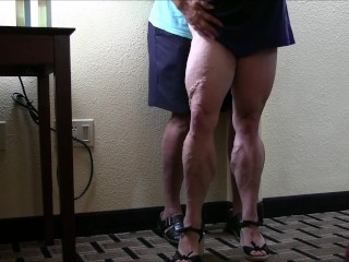 Tempest Jones' bulky gams and rump from Mongo good-sized Calves