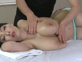 Chinese huge-titted cougar Getting A rubdown