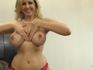 'Handjob, titjob, feetjob And More With huge-boobed ash-blonde Julia Ann In point of view!'