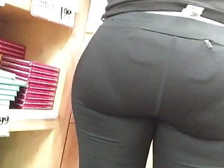 Phat ass white girl with outstanding caboose with vpl
