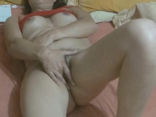 '58-YEAR-OLD hairy stepmom HAVING mighty climaxes IN FRONT OF HER stepson'S FRIENDS'