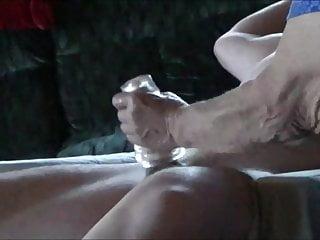 Lady uses Head Honcho for hand job