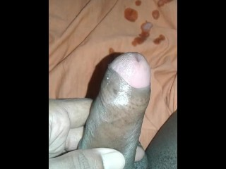 Indian uncircumcised rod getting off