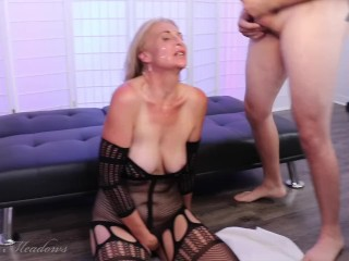 'Behind the sequences very first professional gang-bang mass ejaculation for NaughtyJoJo drills and deepthroats four fuck-stick for hefty facials