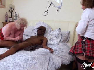 'AGEDLOVE gonzo practice of trio huge-chested mature ladies'