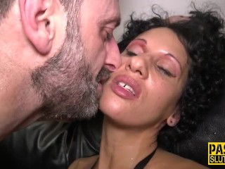 Domination & submission cougar roped and ravaged