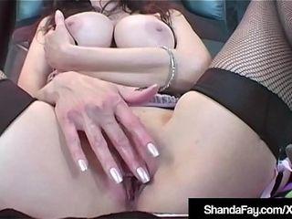 Hot sizzlslagg Housewife Shanda Fay Dildo Fucks less Latex Llessgerie